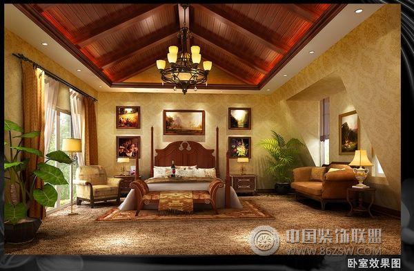 中海瓦尔登湖欧式卧室装修图片