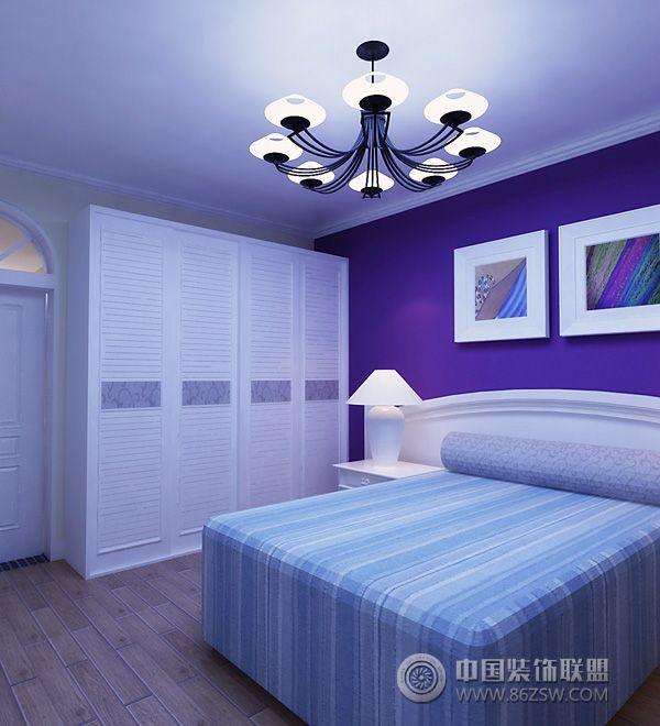 欧式淡蓝色房间