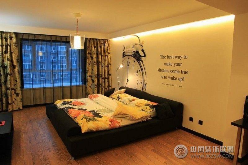 黑白经典营造气质奢华美家现代卧室装修图片