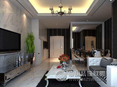 现代时尚客厅设计风格整套大图展示_现代大户型装修图