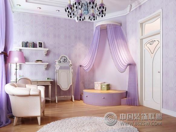 典雅梦幻公主房设计风格古典卧室装修图片