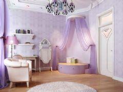 典雅梦幻公主房设计风格