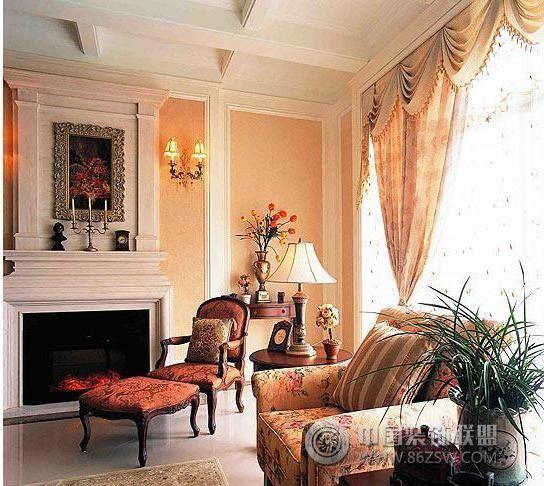 欧式别墅设计 高贵典雅欧式客厅装修图片