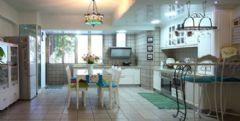 魅力蓝色家居 开放式厨房设计