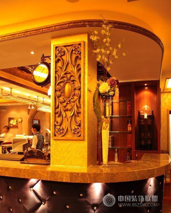 欧式咖啡厅设计 咖啡厅装修效果图 八六装饰网装修