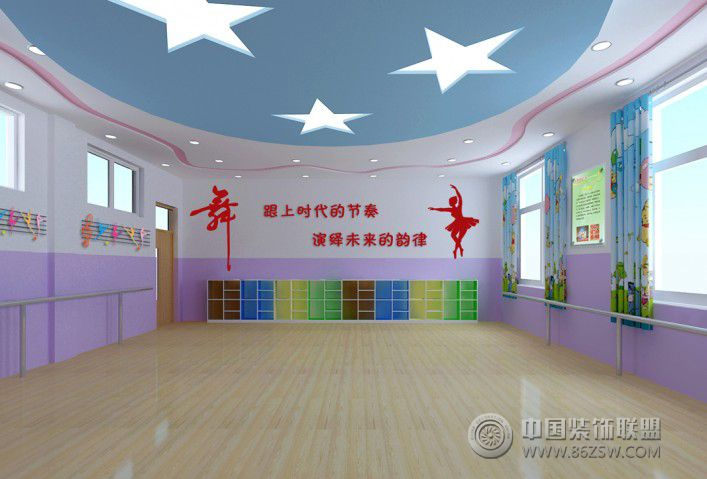 小学舞蹈教室 学校装修效果图 八六装饰网装修