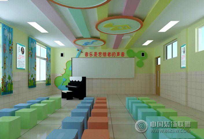 英语学校装修效果图 教室走廊装修效果图 英语学校装修效