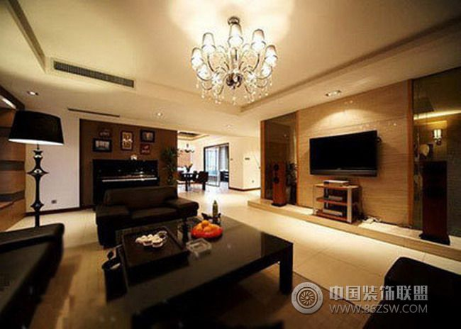 140平米奢华商务三居-客厅装修图片