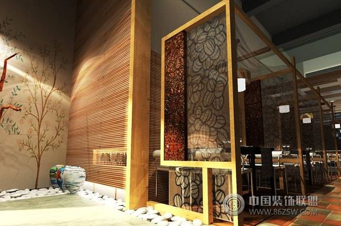 云南茶室整套大图展示_茶馆装修效果图_八六艺术设计说明图片