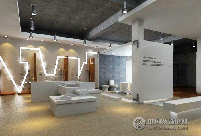 卫浴展厅装修效果图 陶瓷展厅装修效果图 瓷砖展厅装修效果图