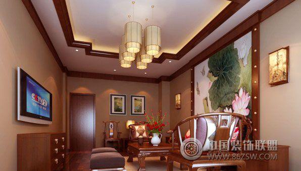 茶楼天花板手绘图