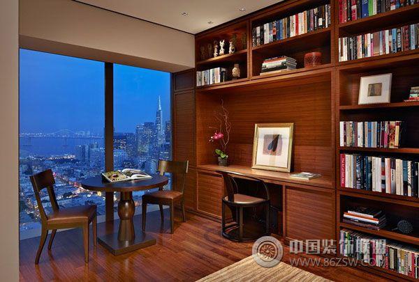 美国旧金山公寓室内设计赏析-书房装修图片