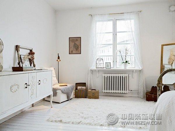 北欧风格单身公寓-卧室装修图片