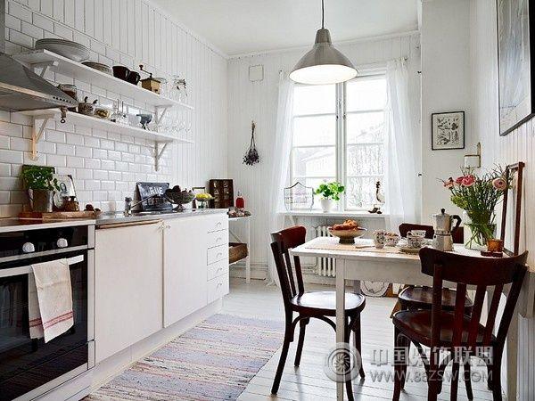 北欧风格单身公寓-厨房装修图片