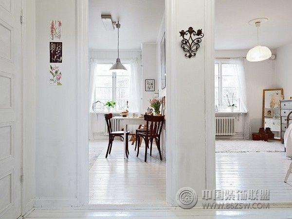 北欧风格单身公寓-过道装修效果图-八六(中国)装饰