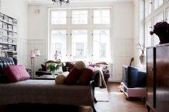 北欧风格和复古风的完美结合公寓
