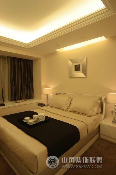 成都简约温馨欧式样板房-卧室装修图片