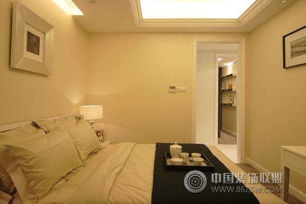 成都简约温馨欧式样板房-卧室装修效果图-八六(中国)