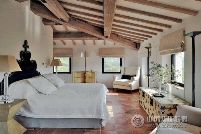 罗马拱形别墅设计欧式卧室装修图片