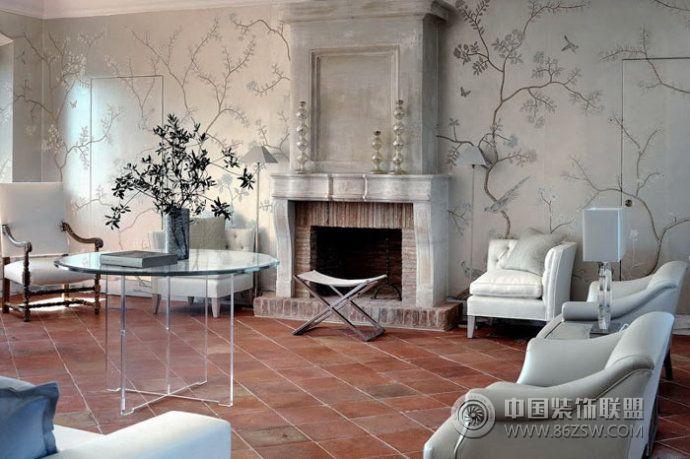 罗马拱形别墅设计-客厅装修效果图-八六(中国)装饰