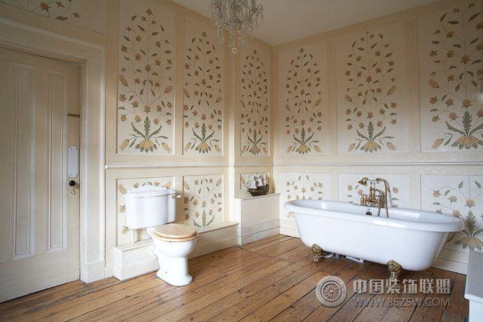 乡村复古别墅设计古典卫生间装修图片