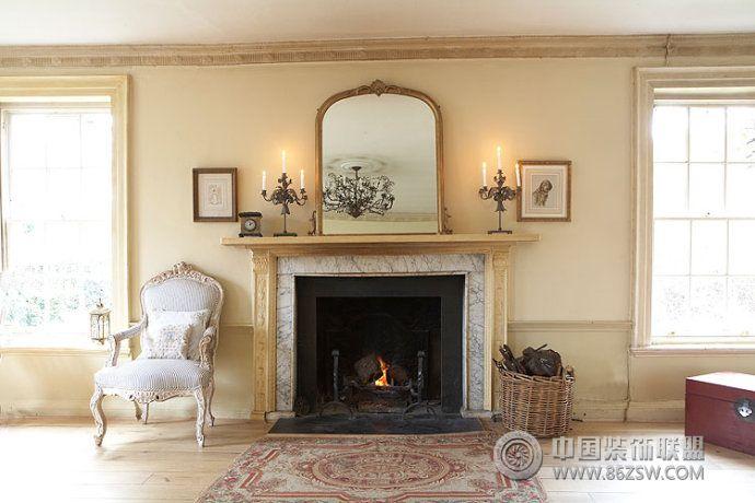 乡村复古别墅设计-客厅装修图片