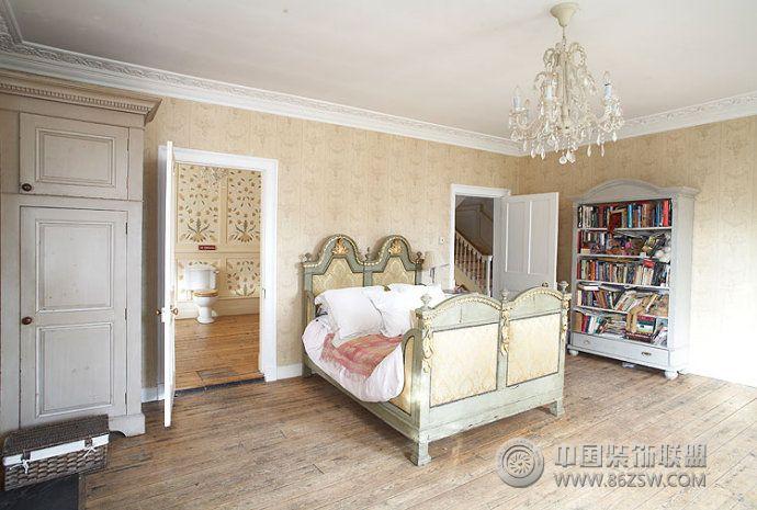 乡村复古别墅设计-卧室装修效果图-八六(中国)装饰