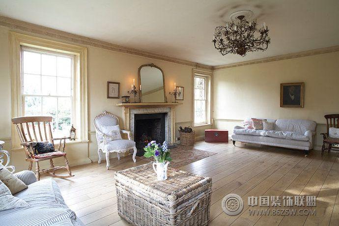 乡村复古别墅设计古典客厅装修图片