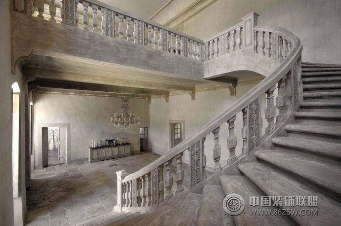古老华丽城堡设计欧式过道装修图片