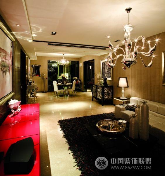 北京万科164平米豪华样板房欧式客厅装修图片