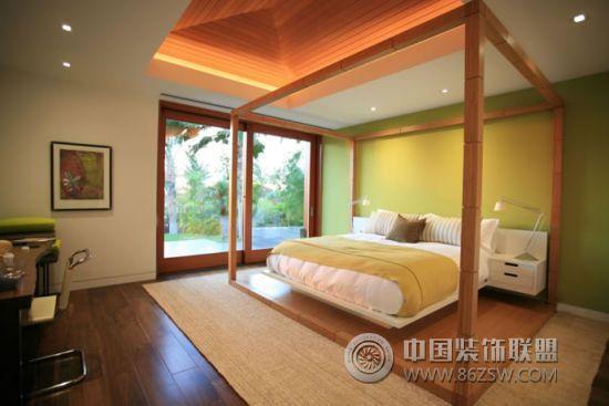 夏威夷独特造型度假别墅-卧室装修图片