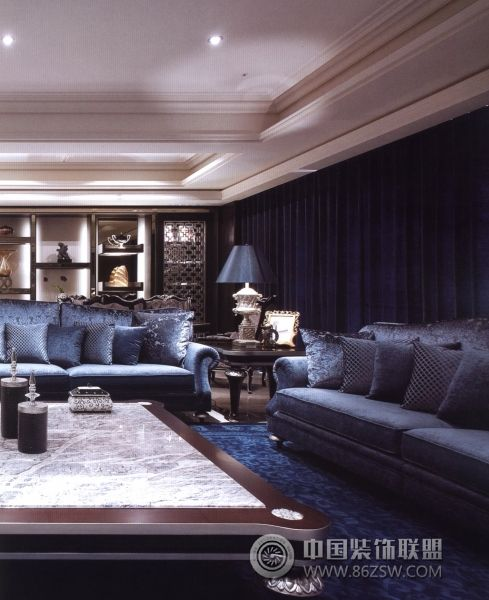 台湾简欧样板房展露奢华-欧式风格装修效果图-八六