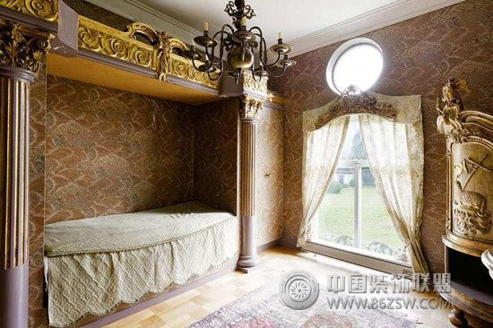 巴洛克奢华复古庄园设计-卧室装修效果图-八六(中国)