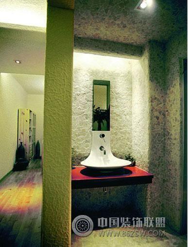 开放式卫生间设计风格整套大图展示_现代小户型装修图图片
