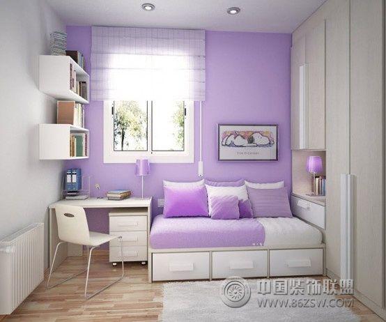 欧式浅紫色客厅装修效果图