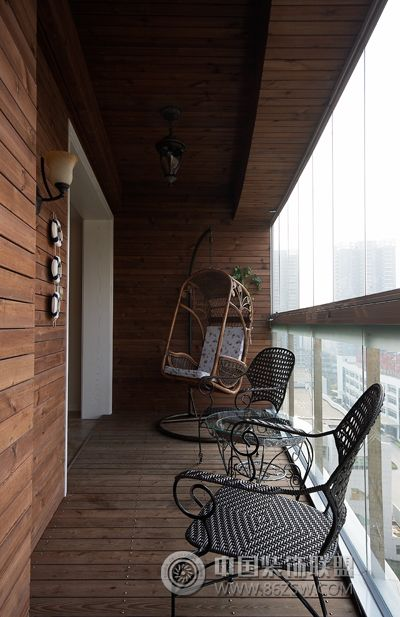 青岛146㎡欧式古典奢华-阳台装修图片
