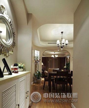 125㎡美式风格家居-过道装修效果图-八六(中国)装饰