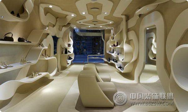 创意鞋店室内设计 专卖店装修效果图 八六装饰网装修