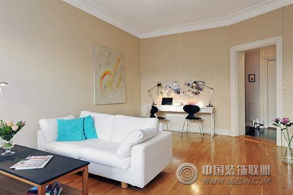 3万元装60平米简约休闲公寓书房装修图片
