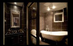 黑白色调奢华新古典式婚房古典卫生间装修图片
