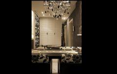 黑白色调奢华新古典式婚房古典餐厅装修图片