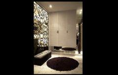 黑白色调奢华新古典式婚房古典玄关装修图片