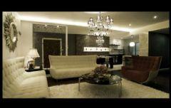 黑白色调奢华新古典式婚房古典客厅装修图片