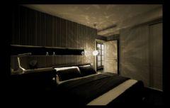 黑白色调奢华新古典式婚房古典卧室装修图片
