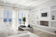 全白舒适的爱琴海(Mykonos)酒店