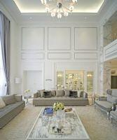 富家美女的纯色顶级奢华别墅