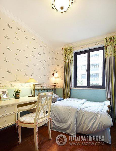 6万装90平米欧式田园风-儿童房装修效果图-八六装饰