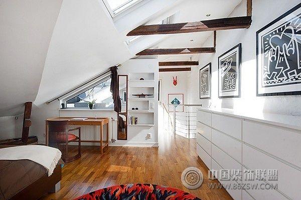 98平米独特北欧阁楼家居 卧室装修效果图 八六 中国 装饰联盟装修效果