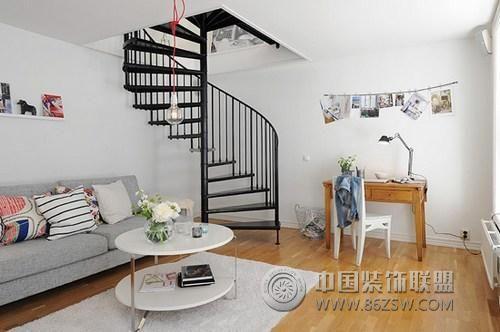 95平方米的清新明亮复式公寓 客厅装修效果图 八六 中国 装饰联盟装修