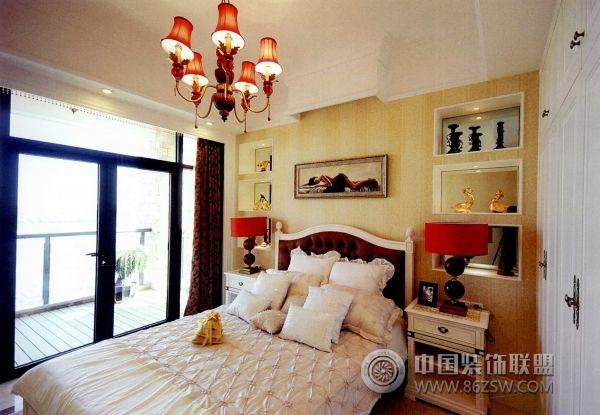 杭州西湖边的奢华别墅欧式卧室装修图片